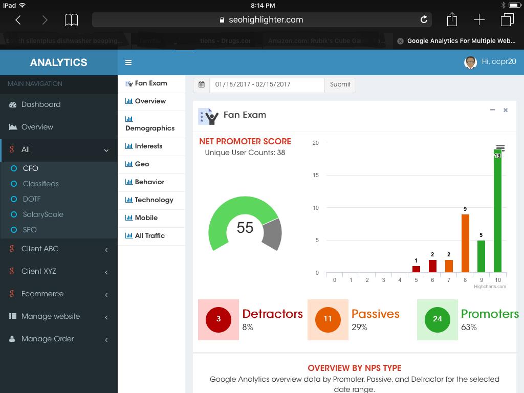iPad NPS Dashboard